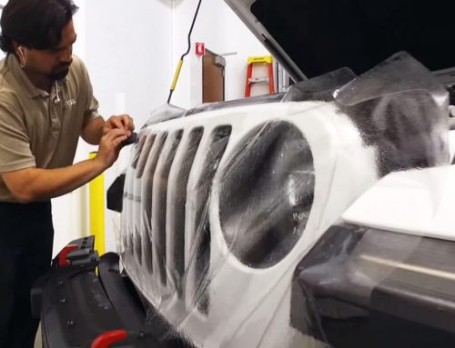 Jeep Jamboree Wrangler Rubicon chránený fóliou XPEL ULTIMATE PLUS